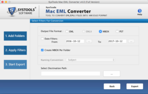 export eml files to Mac mail